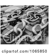 Clipart 3d Tangled Chains Royalty Free CGI Illustration