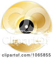 Clipart 3d Gold Album With A White Grunge Bar Royalty Free Vector Illustration by elaineitalia