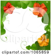Clipart 3d Hibiscus Flower And Leaves Border Royalty Free Vector Illustration