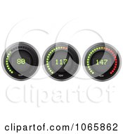 Clipart 3d Temperature Gauges Royalty Free Vector Illustration