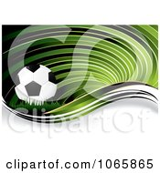 Clipart Green Soccer Swirl Background Royalty Free Vector Illustration by MilsiArt