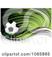 Green Soccer Swirl Background
