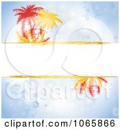 Palm Tree Text Bar On Blue Background