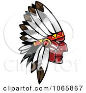 Clipart Native American Brave 1 Royalty Free Vector Illustration