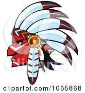 Clipart Native American Brave 4 Royalty Free Vector Illustration