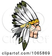 Clipart Native American Brave 2 Royalty Free Vector Illustration by Vector Tradition SM