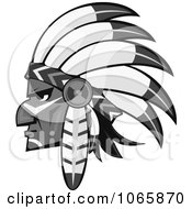 Clipart Native American Brave 3 Royalty Free Vector Illustration