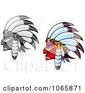 Clipart Native American Braves 2 Royalty Free Vector Illustration