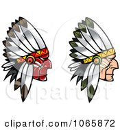 Clipart Native American Braves 1 Royalty Free Vector Illustration