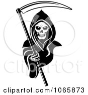 Clipart Grim Reaper 2 Royalty Free Vector Illustration