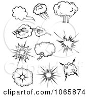 Clipart Comic Poofs 1 Royalty Free Vector Illustration