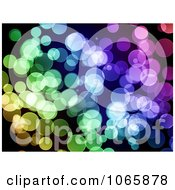 Clipart Sparkly Colored Bokeh Lights Royalty Free Illustration