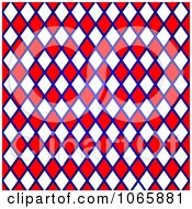 Clipart Red Blue And White Grid Pattern Royalty Free Illustration