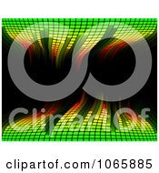 Clipart Green Waving Equaliser On Black Royalty Free Vector Illustration
