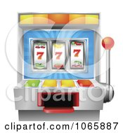 Clipart 3d Fruit Slot Machine Royalty Free Vector Illustration by AtStockIllustration