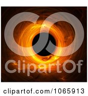 Clipart Fiery Orange Fractal Tunnel On Black Royalty Free CGI Illustration by chrisroll