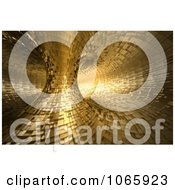 Clipart 3d Golden Double Tunnel Royalty Free CGI Illustration by chrisroll