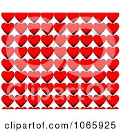 Clipart Red Heart Rows Royalty Free CGI Illustration by chrisroll
