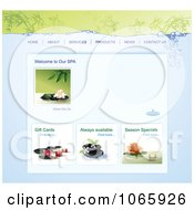 Clipart Spa Website Template 1 Royalty Free Vector Illustration by Eugene