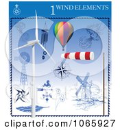 Clipart Wind Elements 1 Royalty Free Vector Illustration