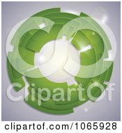Clipart Green Circle With Flares Royalty Free Vector Illustration