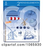 Clipart Wind Elements 2 Royalty Free Vector Illustration by Eugene