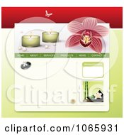 Clipart Spa Website Template 2 Royalty Free Vector Illustration by Eugene