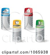 Clipart 3d Recycle Bins Royalty Free Vector Illustration
