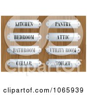 Clipart Silver Plaques On Wood Royalty Free Vector Illustration by Eugene