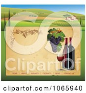 Clipart Winery Website Template 2 Royalty Free Vector Illustration by Eugene