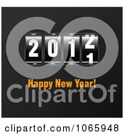 Clipart 2012 Happy New Year Ticker Royalty Free Vector Illustration