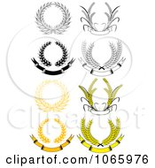 Clipart Laurel Wreaths 7 Royalty Free Vector Illustration by Vector Tradition SM
