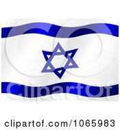 Clipart Waving Israel Flag Royalty Free Vector Illustration