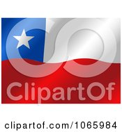 Clipart Waving Chile Flag Royalty Free Vector Illustration