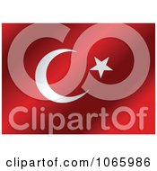 Clipart Waving Turkey Flag Royalty Free Vector Illustration
