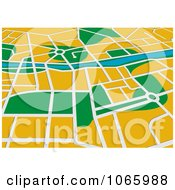 Clipart GPS Map 1 Royalty Free Vector Illustration by Vector Tradition SM