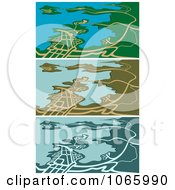 Clipart GPS Maps 2 Royalty Free Vector Illustration by Vector Tradition SM