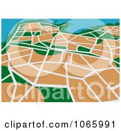 Clipart GPS Map 4 Royalty Free Vector Illustration by Vector Tradition SM