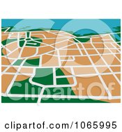 Clipart GPS Map 3 Royalty Free Vector Illustration by Vector Tradition SM