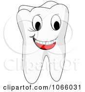 Clipart Happy Tooth Royalty Free Vector Illustration