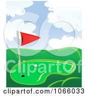 Clipart Golf Course 1 Royalty Free Vector Illustration