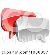 Clipart 3d Shiny Chat Balloons 2 Royalty Free Vector Illustration