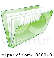Clipart Transparent Green File Folder And Documents Royalty Free Vector Illustration by Vector Tradition SM