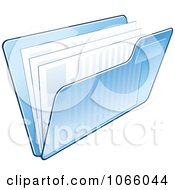 Clipart Transparent Blue File Folder And Documents Royalty Free Vector Illustration by Vector Tradition SM