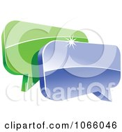 Clipart 3d Shiny Chat Balloons 1 Royalty Free Vector Illustration