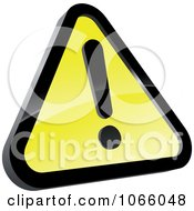 Clipart Yellow 3d Warning Sign Royalty Free Vector Illustration