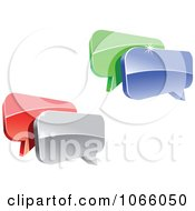 Clipart 3d Shiny Chat Balloons 4 Royalty Free Vector Illustration