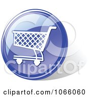 Clipart 3d Blue Shopping Cart Icon Royalty Free Vector Illustration