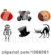 Clipart Halloween Icons 1 Royalty Free Vector Illustration
