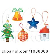 Clipart Christmas Icons 7 Royalty Free Vector Illustration